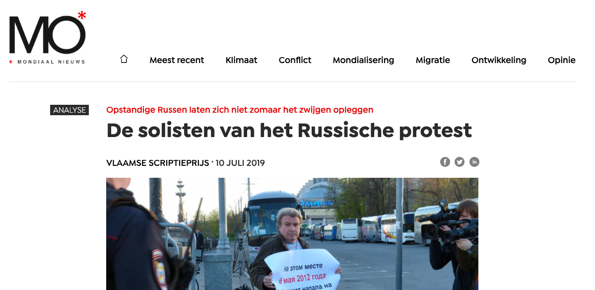 UGent mo magazine russisch protest